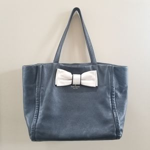 Kate Spade Leather Bow Shoulder Tote Satchel Bag